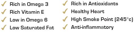 Benefits Newgrange Gold Rapeseed & Camelina Wild FlaxOils