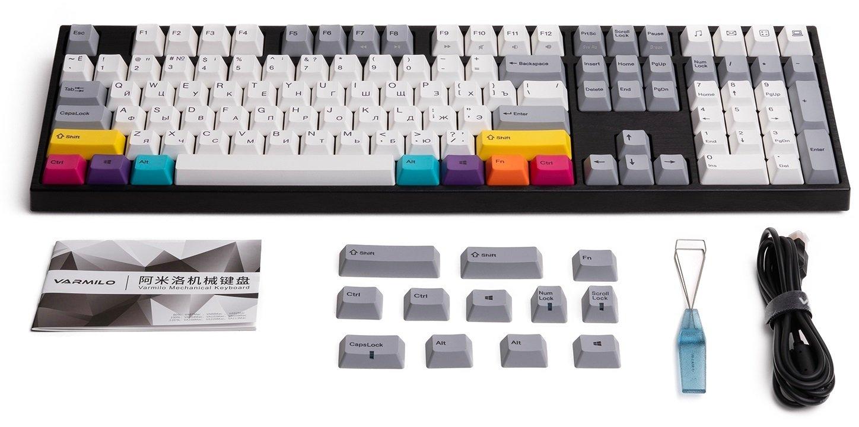 Комплект поставки клавиатуры Varmilo VA108M CMYK