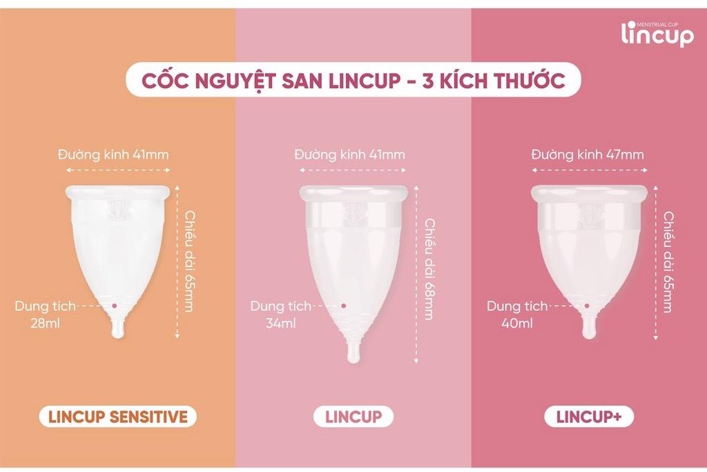 Cốc nguyệt san Lincup có những size nào tốt nhất?