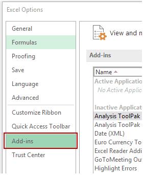 Histogram in Excel - Addins