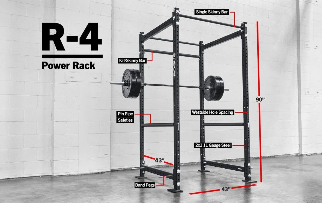 dimenions of a power rack