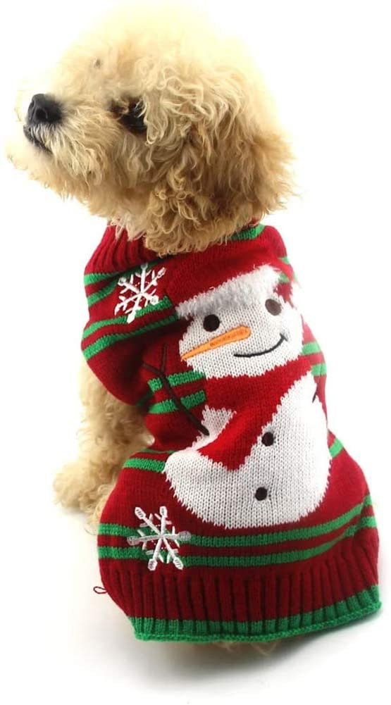 christmas sweaters for large dogs  snowman sweater