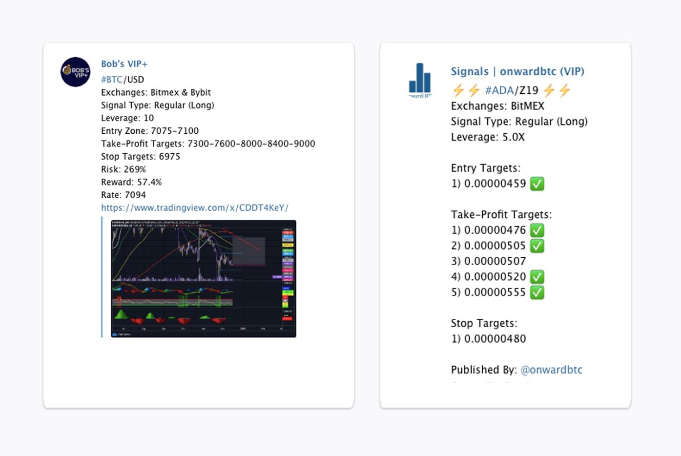 BitMEX crypto signals example