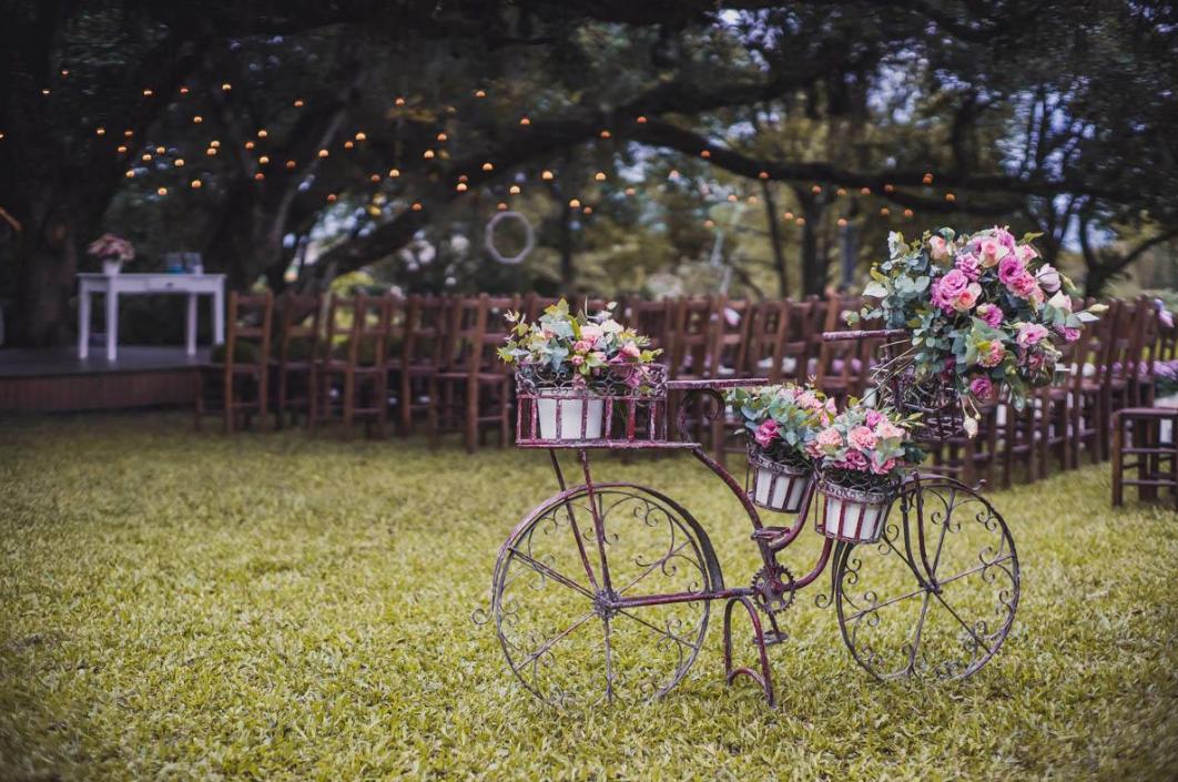 Decoração de casamento ao ar livre em Porto Alegre