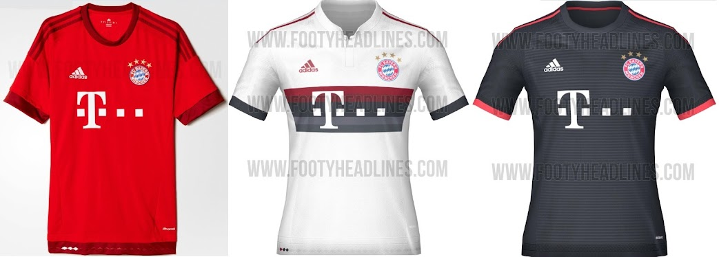 new concept d1b1d 431c8 World : FC Bayern Munich 2015-16 Kits (Leaked)