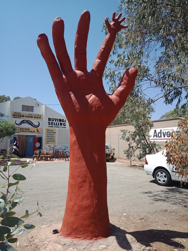 the big hand in Alice Springs