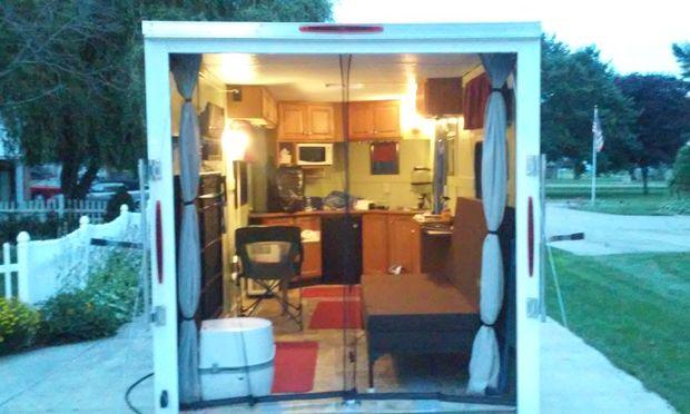 Toy hauler with living garage