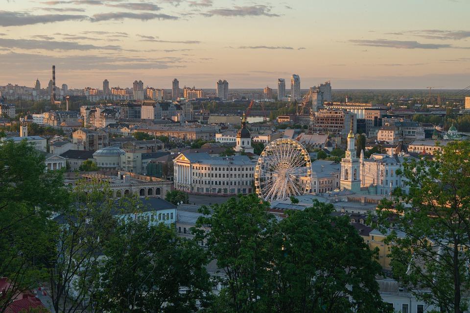 Kiev, Ukraine, City, Sky, Building, Architecture
