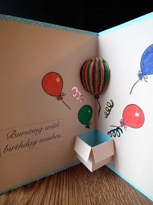 立體汽球生日卡