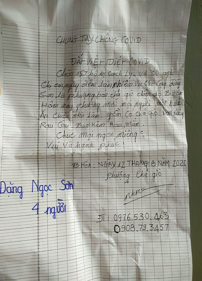 Đồng Nai: Chủ quán chả giò nổi tiếng ở Biên Hòa chiêu đãi hơn 150 hộ đang cách ly - Ảnh 1