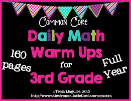 3rd Gr Math Warm Ups