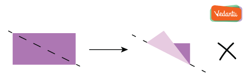 folding the rectangle along with any of the diagonal lines