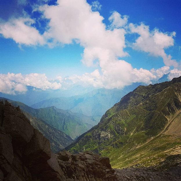View of Chamba Valley from summit