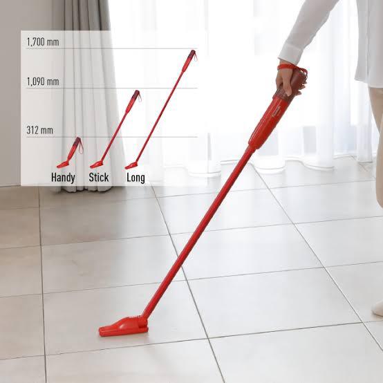 The Panasonic MC-SBU1 Cordless Stick Vacuum Cleaner MC-SBU1FH187 is a lightweight vacuum that's great for any household Source; Shopee.com