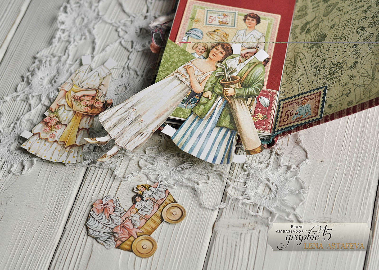 My Family Mini Album Featuring Penny's Paper Doll Family Collection