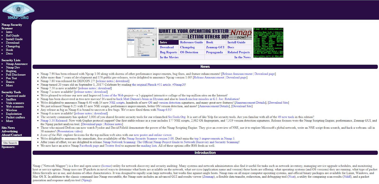 Nmap Network Monitoring Tool