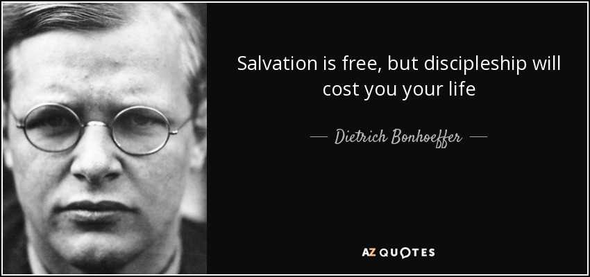 Photo of Bonhoeffer with quote
