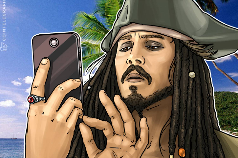 Captain Jack Sparrow verwendet die Lightning Network-Technologie