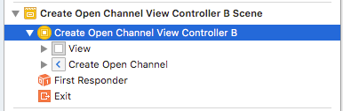 Drag a UIViewController to the Preview pane of the Interface Builder and name it CreateOpenChannelViewControllerB