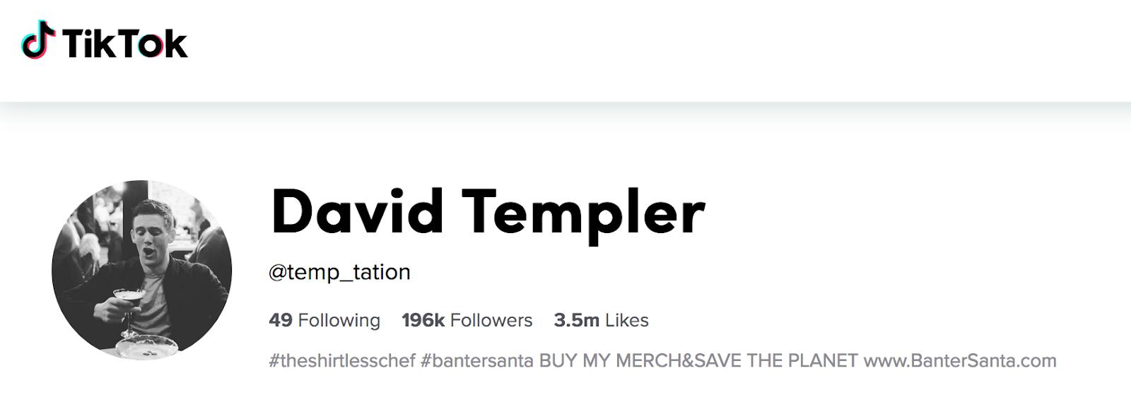 David Templer | TikTok Cooking Influencer