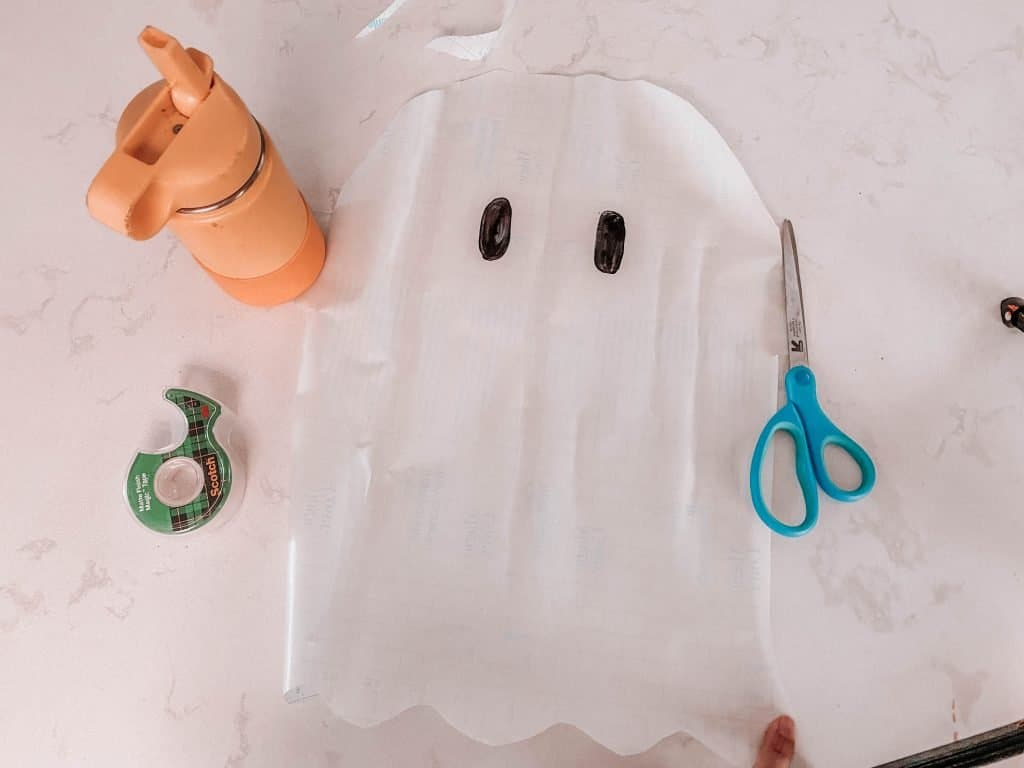 Halloween Ghost Toddler Activity: Sticky Ghost! EASY, Low Mess At Home Fun