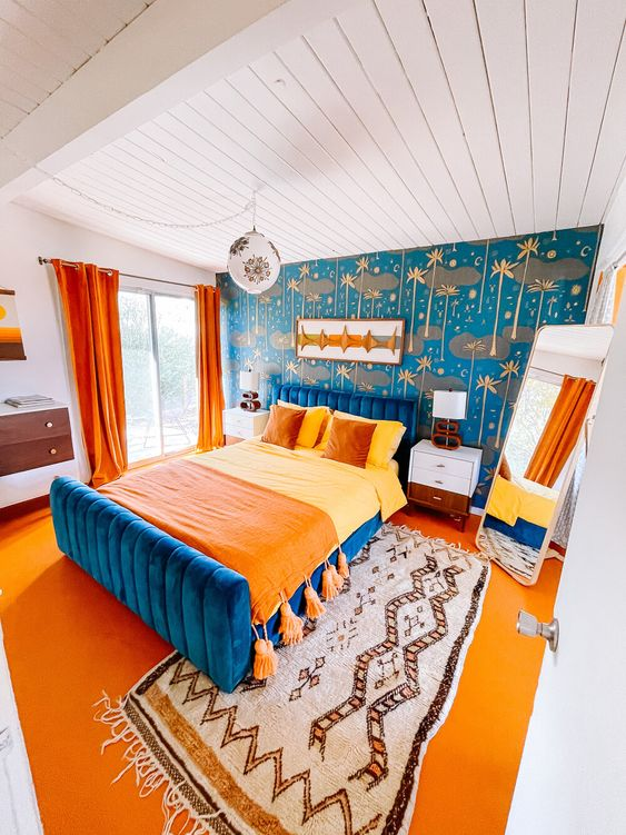 Go Bold with Vibrant Bedroom Furniture and Interiors