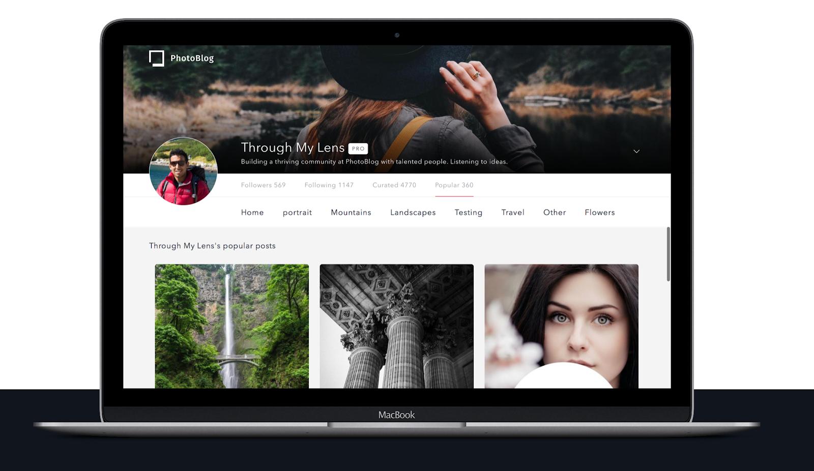 Example Photoblog profile