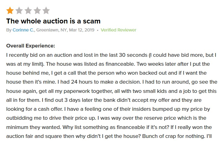 Xome auction review