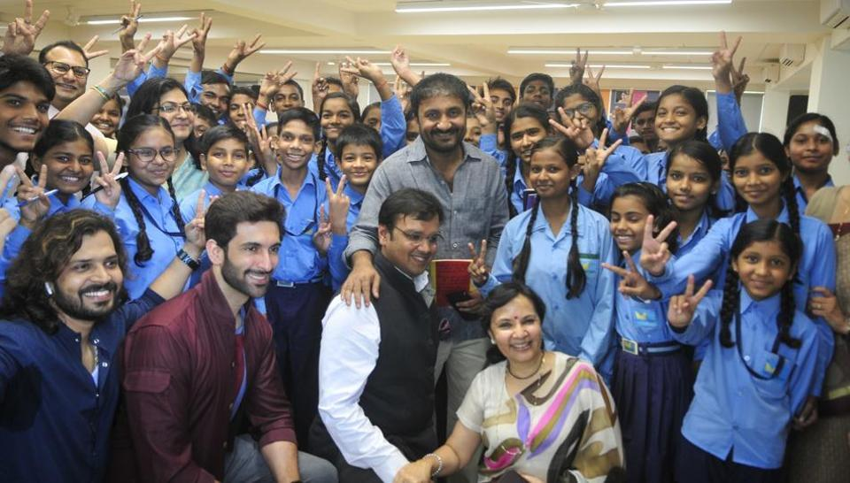 Image result for Anand Kumar with his students