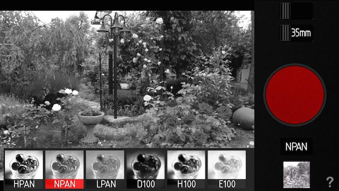 Снимок экрана интерфейса приложения для смартфонов Provoke - лучшие приложения для создания черно-белых фотографий