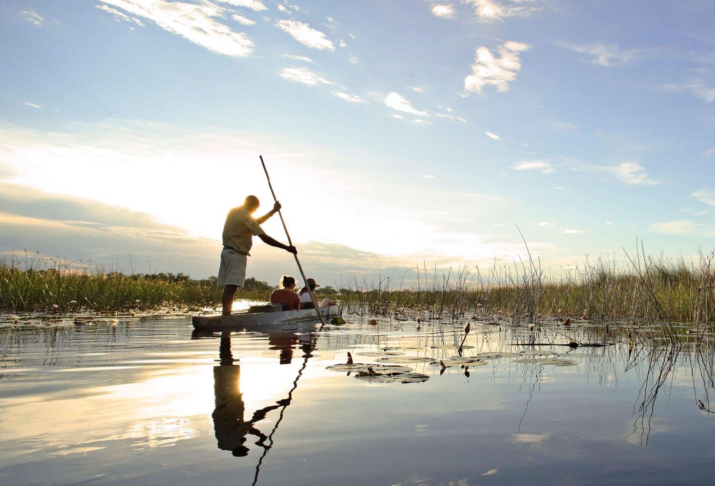 Mokoro adventures in the Okavango Delta
