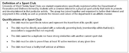 Uwf Spring Break 2020.2019 2020 Sport Club Handbook
