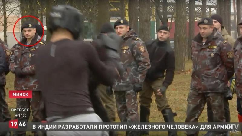Кадр из клипа Николая Черепина на телеканале СТВ отмечен кружком.