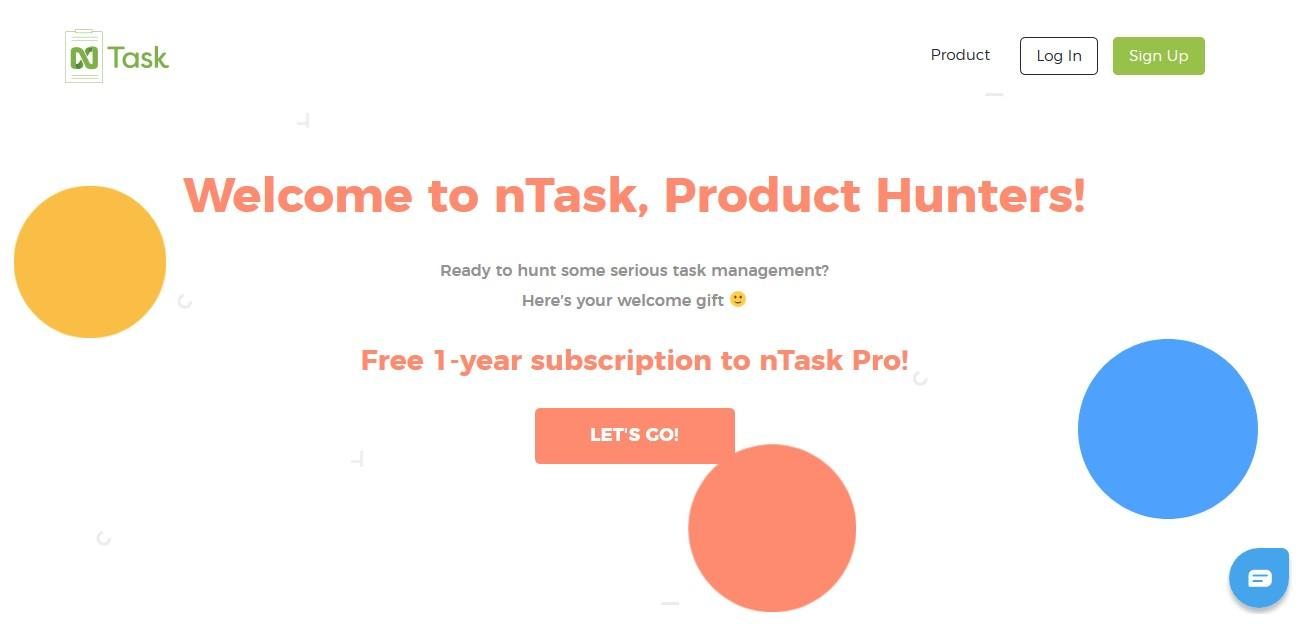 website section for product hunt users
