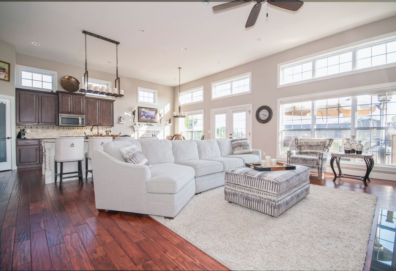 Home decluttering holidays strategies tips barrington il inverness living room white brown open