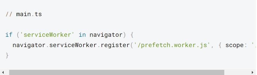 Đoạn mã này sẽ tải xuống prefetch.worker.js và chạy trong nền