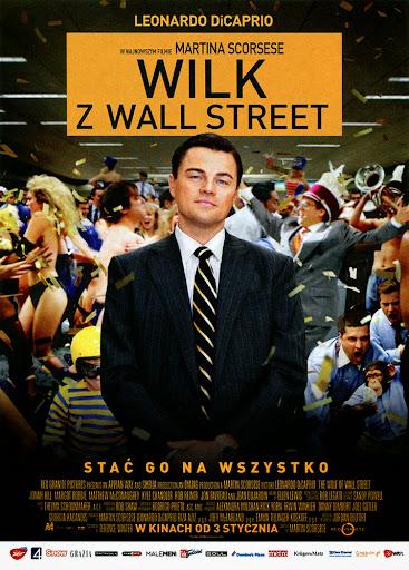 Przód ulotki filmu 'Wilk Z Wall Street'