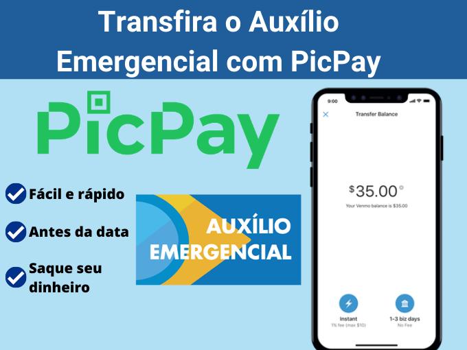 Saque o Auxílio Emergencial com PicPay