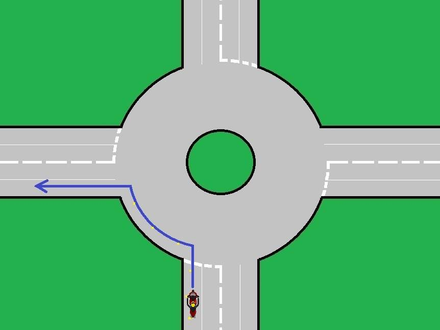 roundabout turn left