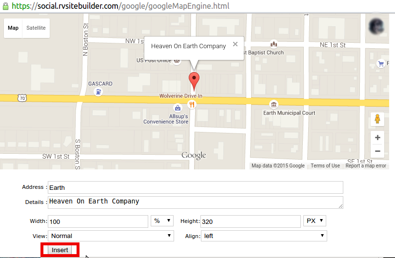 Add Google Maps with Widget feature in RVsitebuilder – RVglobalsoft