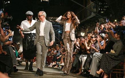 Tommy Hilfiger, Zendaya, and Law Roach