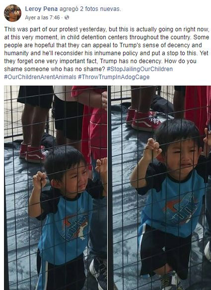 PolitiFact | Tweeted photo inaccurately indicates boy 'caged' by federal  government