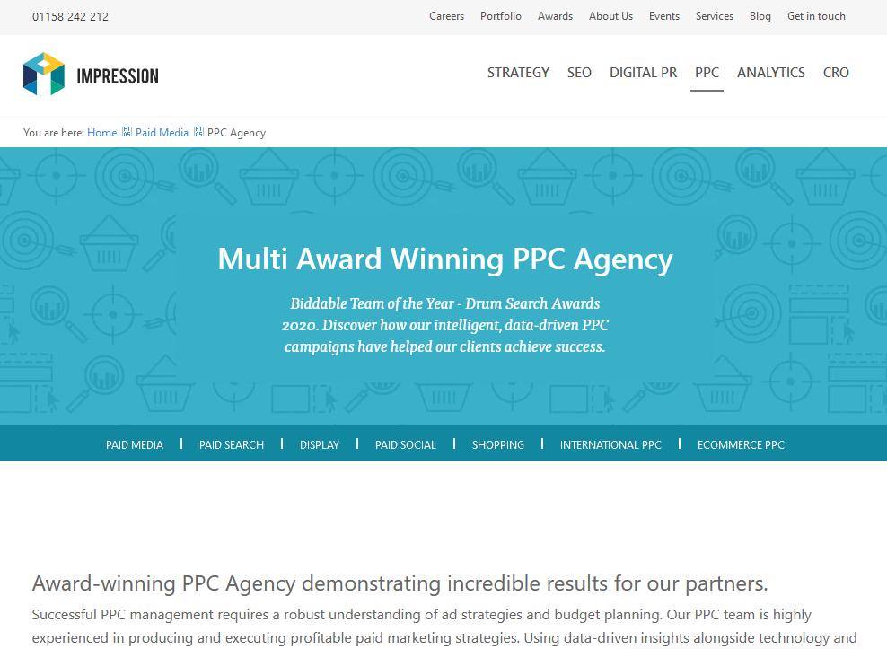 Award Winning eCommerce PPC Agency - Impression