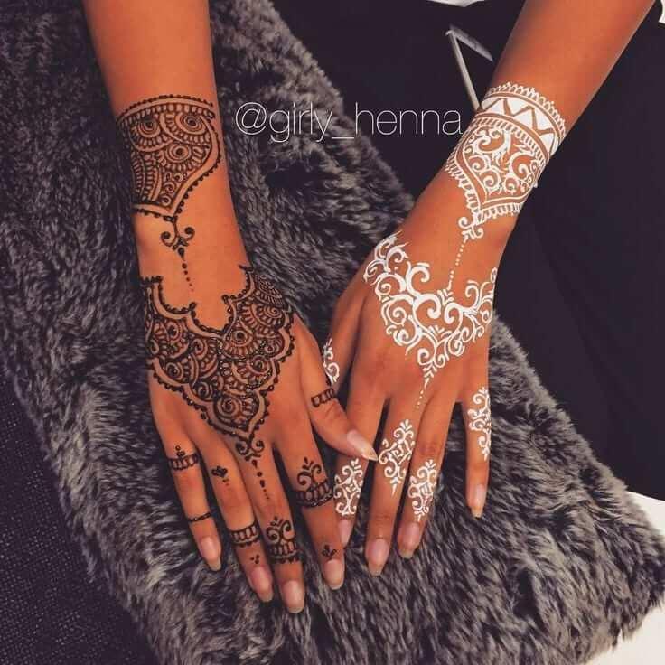 African henna tattoo