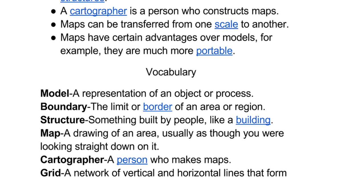 Person Who Makes Maps 1 Landforms Schoolyard Models   Google Docs Person Who Makes Maps