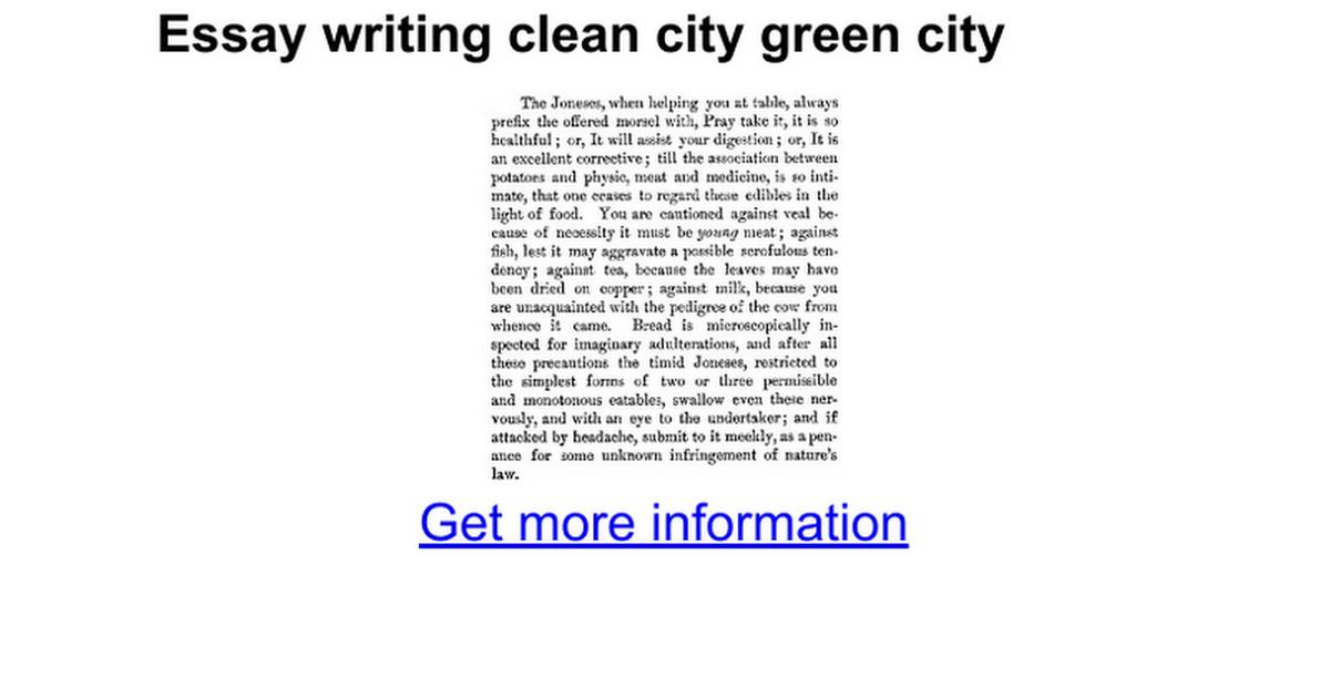 Essay city
