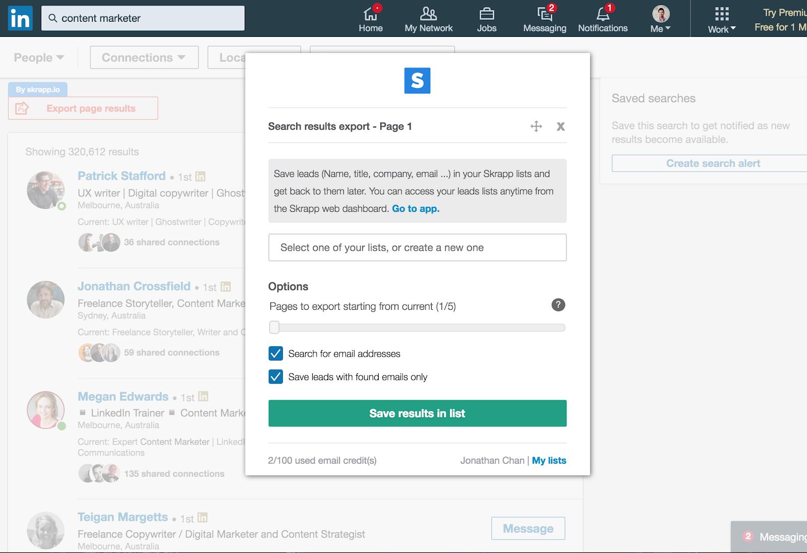 skrapp can find email addresses in bulk.