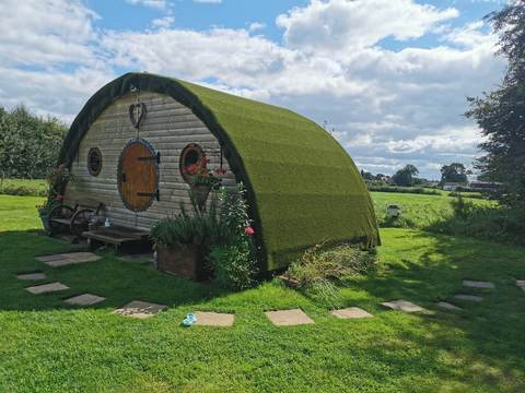 Best Eco Staycation Spots in the UK, Magical Hobbit Retreat - Cheshire East, England - 5* rating