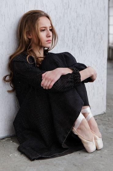 Ballerina, Wall, Pointe Shoes, Sorrow, Girl, Russian
