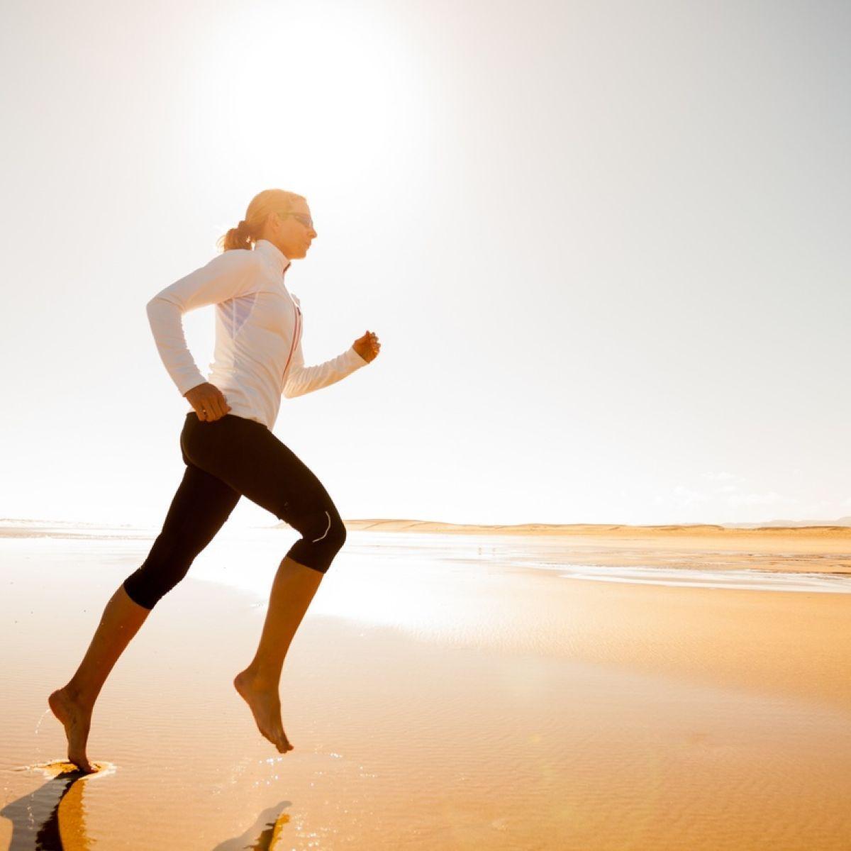 Barefoot running es la accion de correr descalzo